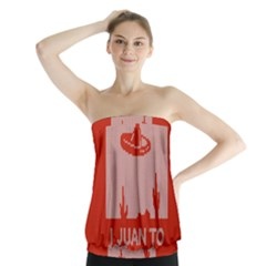 I Juan To Believe Ugly Holiday Christmas Red Background Strapless Top
