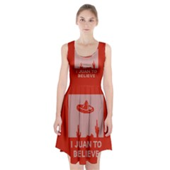I Juan To Believe Ugly Holiday Christmas Red Background Racerback Midi Dress