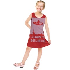 I Juan To Believe Ugly Holiday Christmas Red Background Kids  Tunic Dress