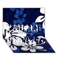 Blue Hibiscus YOU ARE INVITED 3D Greeting Card (7x5)