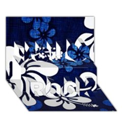 Blue Hibiscus You Rock 3D Greeting Card (7x5)
