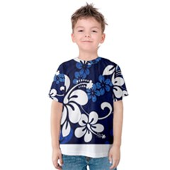 Blue Hibiscus Kids  Cotton Tee