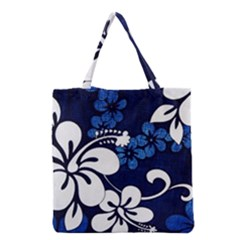 Blue Hibiscus Grocery Tote Bag