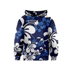 Blue Hibiscus Kids  Pullover Hoodie