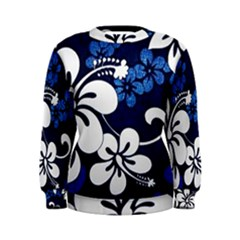 Blue Hibiscus Women s Sweatshirt