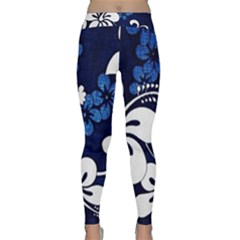 Blue Hibiscus Classic Yoga Leggings