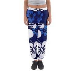 Blue Hibiscus Women s Jogger Sweatpants