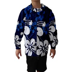 Blue Hibiscus Hooded Wind Breaker (Kids)