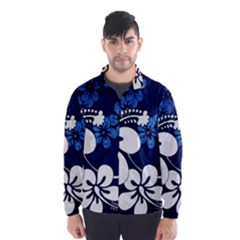 Blue Hibiscus Wind Breaker (Men)