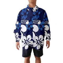 Blue Hibiscus Wind Breaker (Kids)