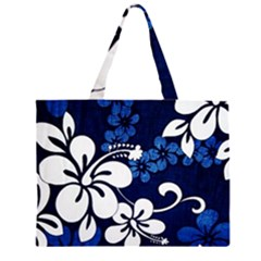 Blue Hibiscus Large Tote Bag