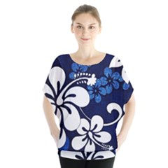 Blue Hibiscus Blouse
