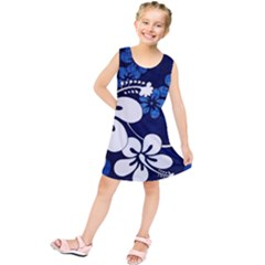 Blue Hibiscus Kids  Tunic Dress