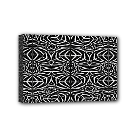 Black and White Tribal Pattern Mini Canvas 6  x 4