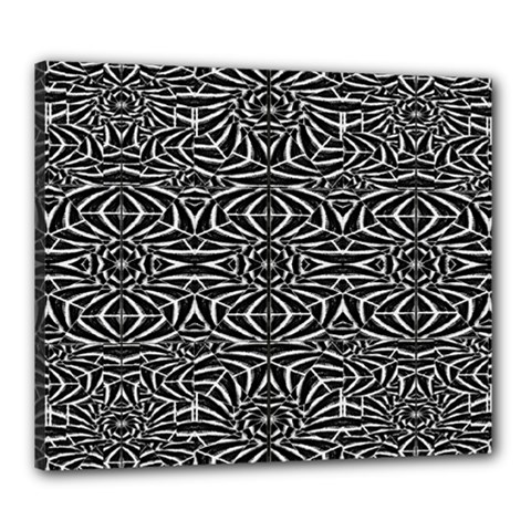 Black and White Tribal Pattern Canvas 24  x 20