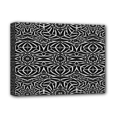 Black and White Tribal Pattern Deluxe Canvas 16  x 12