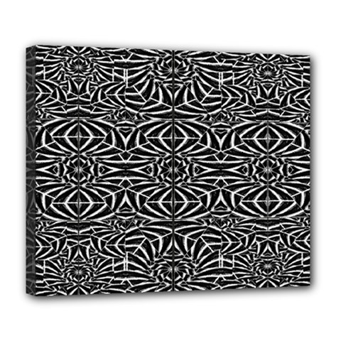 Black and White Tribal Pattern Deluxe Canvas 24  x 20