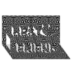 Black and White Tribal Pattern Best Friends 3D Greeting Card (8x4)