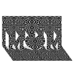 Black and White Tribal Pattern MOM 3D Greeting Card (8x4)
