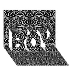 Black and White Tribal Pattern BOY 3D Greeting Card (7x5)