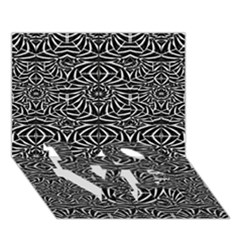 Black and White Tribal Pattern LOVE Bottom 3D Greeting Card (7x5)