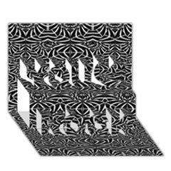 Black and White Tribal Pattern You Rock 3D Greeting Card (7x5)
