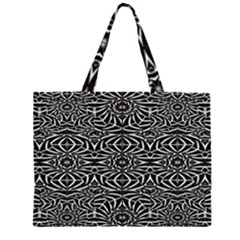 Black and White Tribal Pattern Large Tote Bag
