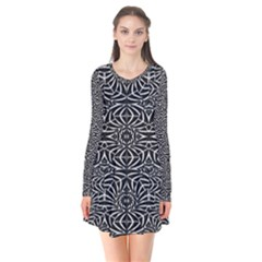 Black And White Tribal Pattern Flare Dress