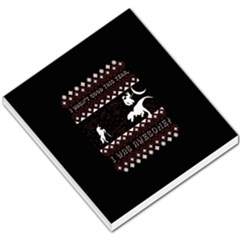 I Wasn t Good This Year, I Was Awesome! Ugly Holiday Christmas Black Background Small Memo Pads