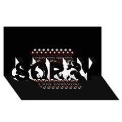 I Wasn t Good This Year, I Was Awesome! Ugly Holiday Christmas Black Background Sorry 3d Greeting Card (8x4)