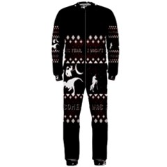 I Wasn t Good This Year, I Was Awesome! Ugly Holiday Christmas Black Background OnePiece Jumpsuit (Men)