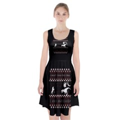 I Wasn t Good This Year, I Was Awesome! Ugly Holiday Christmas Black Background Racerback Midi Dress