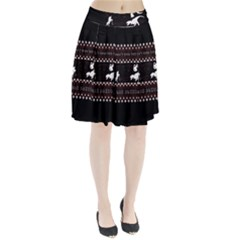 I Wasn t Good This Year, I Was Awesome! Ugly Holiday Christmas Black Background Pleated Skirt