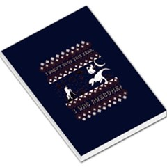 I Wasn t Good This Year, I Was Awesome! Ugly Holiday Christmas Blue Background Large Memo Pads