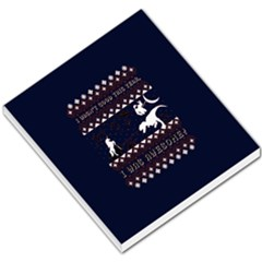 I Wasn t Good This Year, I Was Awesome! Ugly Holiday Christmas Blue Background Small Memo Pads