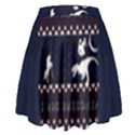 I Wasn t Good This Year, I Was Awesome! Ugly Holiday Christmas Blue Background High Waist Skirt View2