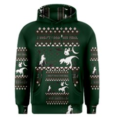 I Wasn t Good This Year, I Was Awesome! Ugly Holiday Christmas Green Background Men s Pullover Hoodie