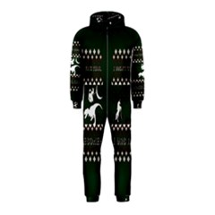 I Wasn t Good This Year, I Was Awesome! Ugly Holiday Christmas Green Background Hooded Jumpsuit (Kids)