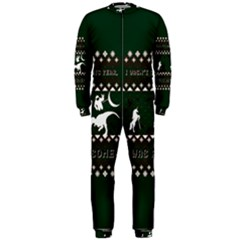 I Wasn t Good This Year, I Was Awesome! Ugly Holiday Christmas Green Background OnePiece Jumpsuit (Men)
