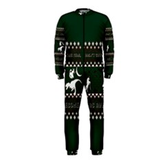 I Wasn t Good This Year, I Was Awesome! Ugly Holiday Christmas Green Background OnePiece Jumpsuit (Kids)