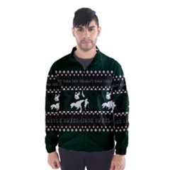 I Wasn t Good This Year, I Was Awesome! Ugly Holiday Christmas Green Background Wind Breaker (Men)