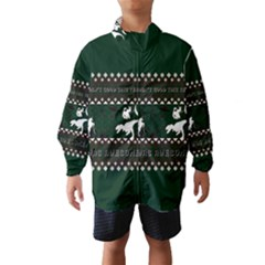 I Wasn t Good This Year, I Was Awesome! Ugly Holiday Christmas Green Background Wind Breaker (Kids)
