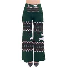 I Wasn t Good This Year, I Was Awesome! Ugly Holiday Christmas Green Background Pants