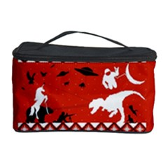 I Wasn t Good This Year, I Was Awesome! Ugly Holiday Christmas Red Background Cosmetic Storage Case