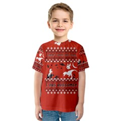 I Wasn t Good This Year, I Was Awesome! Ugly Holiday Christmas Red Background Kids  Sport Mesh Tee
