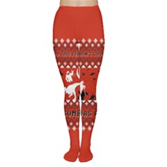 I Wasn t Good This Year, I Was Awesome! Ugly Holiday Christmas Red Background Women s Tights