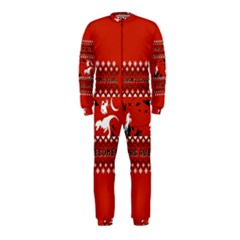 I Wasn t Good This Year, I Was Awesome! Ugly Holiday Christmas Red Background OnePiece Jumpsuit (Kids)