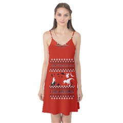 I Wasn t Good This Year, I Was Awesome! Ugly Holiday Christmas Red Background Camis Nightgown