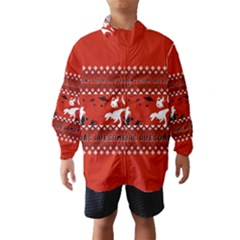 I Wasn t Good This Year, I Was Awesome! Ugly Holiday Christmas Red Background Wind Breaker (Kids)