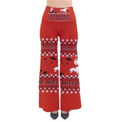 I Wasn t Good This Year, I Was Awesome! Ugly Holiday Christmas Red Background Pants